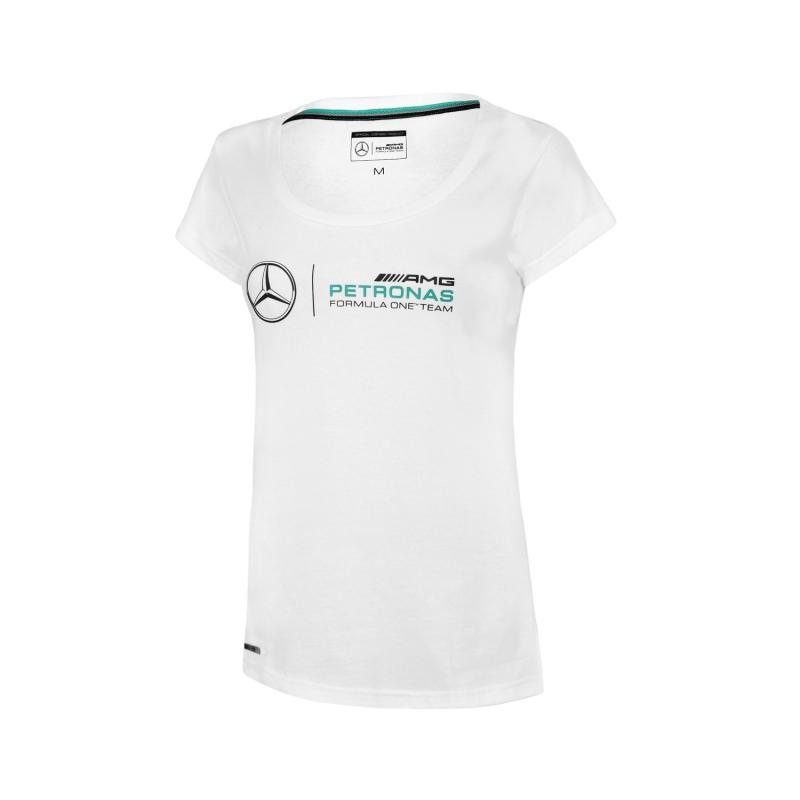 ae22f51a7 Mercedes AMG Petronas koszulka damska logo white F1 2016 - FAN-store.pl