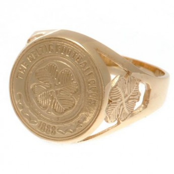 FC Celtic pierścionek 9ct Gold Crest Ring Small