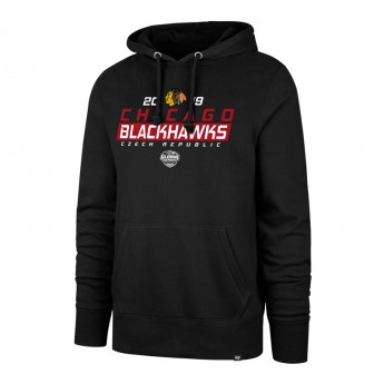 Chicago Blackhawks męska bluza z kapturem 47 Brand Headline Hood NHL black GS19