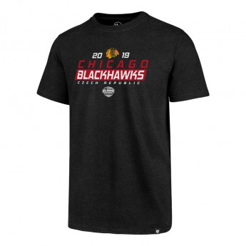 Chicago Blackhawks czapka baseballówka 47 Brand Club Tee NHL black GS19