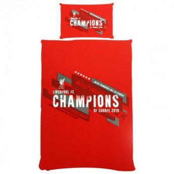 Liverpool pościel na jedno łóżko Champions of Europe Single Duvet Set