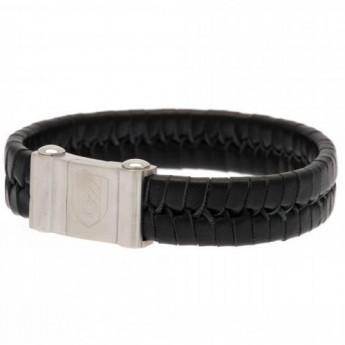 Fulham bransoletka skórzana Plait Leather Bracelet