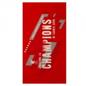Liverpool ręcznik plażowy Champions of Europe Towel