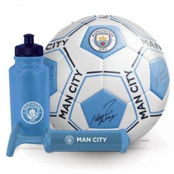 Manchester City zestaw piłkarski water bottle - hand pump - size 5 ball