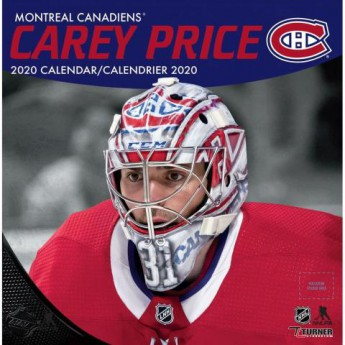 Montreal Canadiens kalendarz Carey Price 2020 Wall