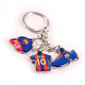 Barcelona brelok do kluczy 3 Charm Keyring