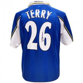 Słynni piłkarze piłkarska koszulka meczowa Chelsea FC Terry 1998 Signed Shirt