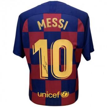 Słynni piłkarze piłkarska koszulka meczowa FC Barcelona Messi 2019-2020 Signed Shirt