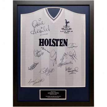 Słynni piłkarze koszulka w antyramie Tottenham Hotspur FC 1984 UEFA Cup Final Signed Shirt (Framed)