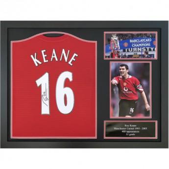 Słynni piłkarze koszulka w antyramie Manchester United FC Keane 2018-2019 Signed Shirt (Framed)