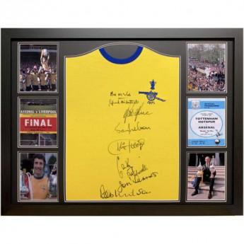Słynni piłkarze koszulka w antyramie Arsenal FC 1971 Double Winners Signed Shirt (Framed)
