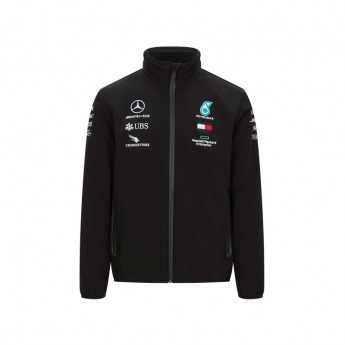 Mercedes AMG Petronas kurtka męska softshell black F1 Team 2020