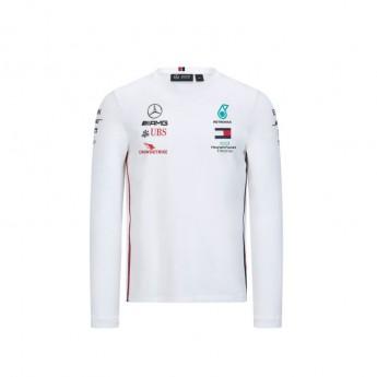 Mercedes AMG Petronas męska koszulka z długim rękawem white F1 Team 2020