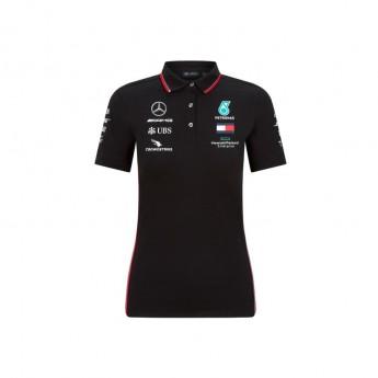 Mercedes AMG Petronas damska koszulka polo black F1 Team 2020