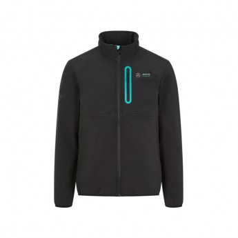 Mercedes AMG Petronas kurtka męska badge softshell black F1 Team 2020