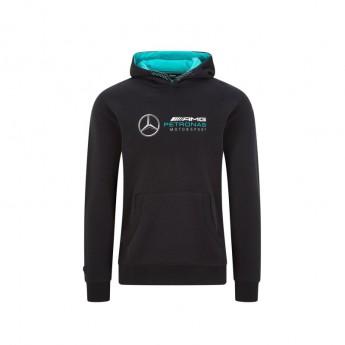 Mercedes AMG Petronas męska bluza z kapturem logo hooded black F1 Team 2020