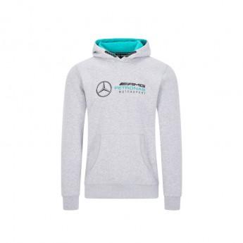 Mercedes AMG Petronas męska bluza z kapturem logo hooded grey F1 Team 2020
