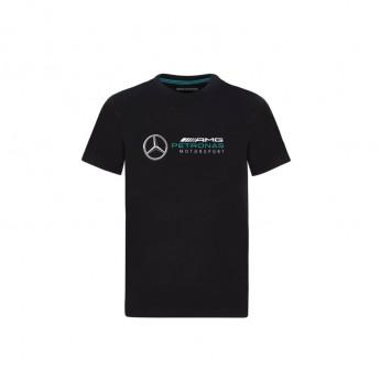 Mercedes AMG Petronas koszulka dziecięca logo black F1 Team 2020