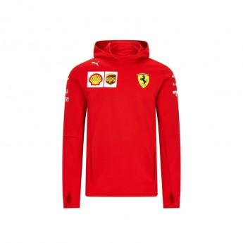 Ferrari męska bluza z kapturem tech red F1 Team 2020