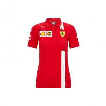 Ferrari damska koszulka polo red F1 Team 2020