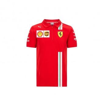Ferrari dziecięca koszulka polo red F1 Team 2020