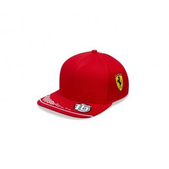 Ferrari dziecięca czapka baseballowa Leclerc red F1 Team 2020