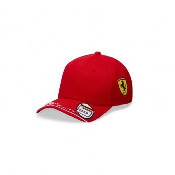 Ferrari dziecięca czapka baseballowa Vettel red F1 Team 2020
