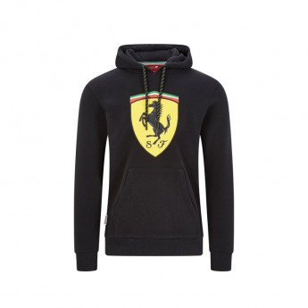 Ferrari męska bluza z kapturem shield black F1 Team 2020