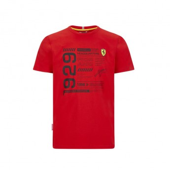 Ferrari koszulka męska infographic red F1 Team 2020