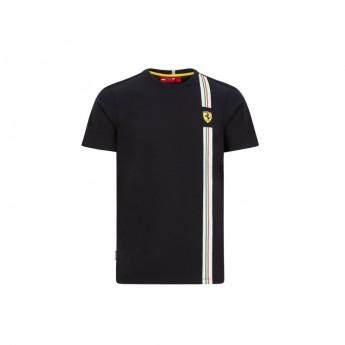 Ferrari koszulka męska Italian flag black F1 Team 2020