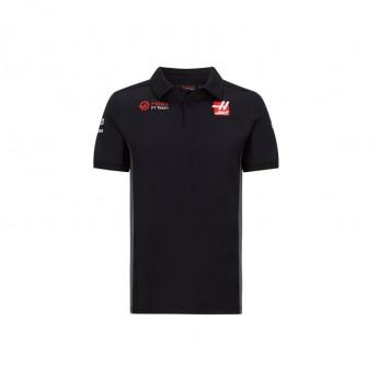 Haas F1 męska koszulka polo logo black F1 Team 2020