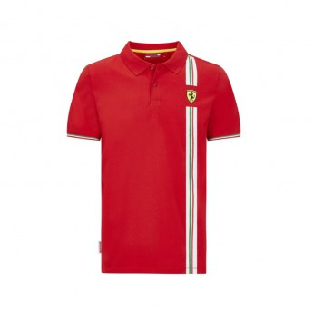 Ferrari męska koszulka polo Italian flag red F1 Team 2020