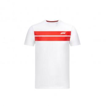 Formuła 1 koszulka męska stripe white 2020