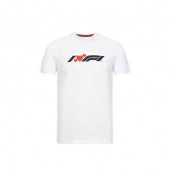 Formuła 1 koszulka męska heart white 2020