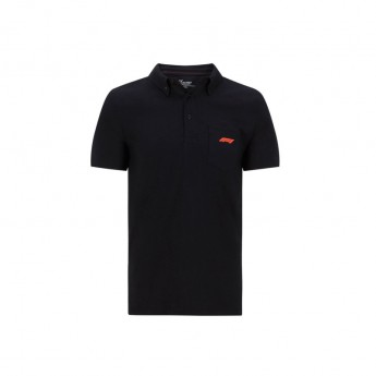 Formuła 1 męska koszulka polo Black Pocket 2020