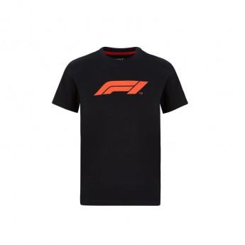 Formuła 1 koszulka dziecięca logo black 2020