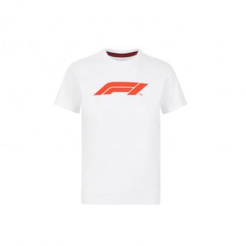 Formuła 1 koszulka dziecięca logo white 2020