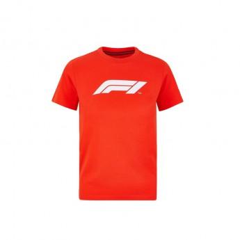 Formuła 1 koszulka dziecięca logo red 2020