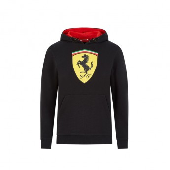 Ferrari dziecięca bluza z kapturem logo black F1 Team 2020