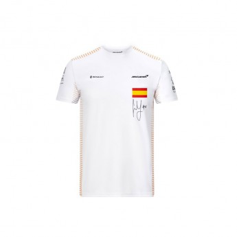 McLaren Honda koszulka męska Carlos Sainz white F1 Team 2020