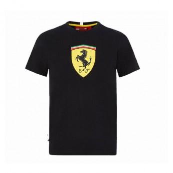 Ferrari koszulka dziecięca logo shield black F1 Team 2020