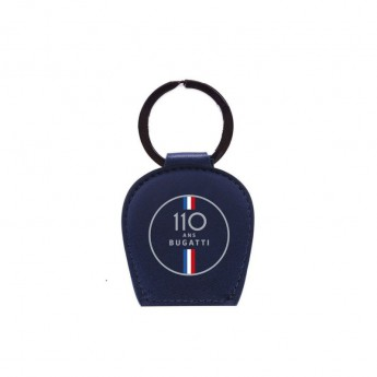Bugatti brelok do kluczy 110 Ans Leather Logo 2020