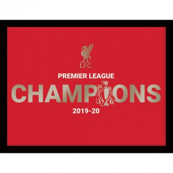 Liverpool obrazek w ramce Premier League Champions Metallic Picture 16 x 12