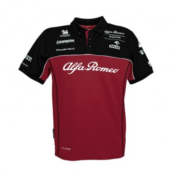 Alfa Romeo Racing męska koszulka polo Red F1 Team 2020