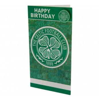 FC Celtic życzenia urodzinowe Birthday Card & Badge