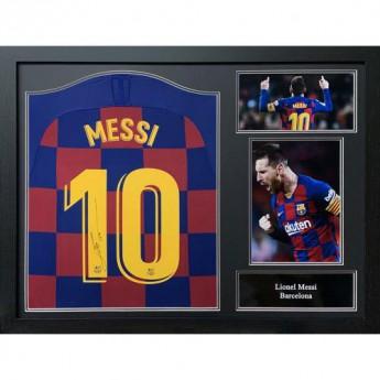 Słynni piłkarze koszulka w antyramie FC Barcelona Messi 2019-20 Signed Shirt (Framed)