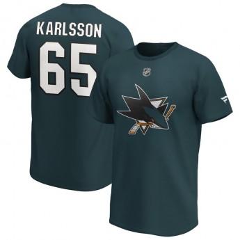 San Jose Sharks koszulka męska Erik Karlsson Iconic Name & Number Graphic