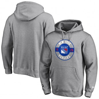 New York Rangers męska bluza z kapturem Iconic Circle Start Graphic