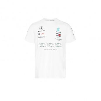 Mercedes AMG Petronas koszulka męska Lewis Champion White F1 Team 2020