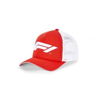 Formuła 1 czapka baseballówka Trucker red/white 2020